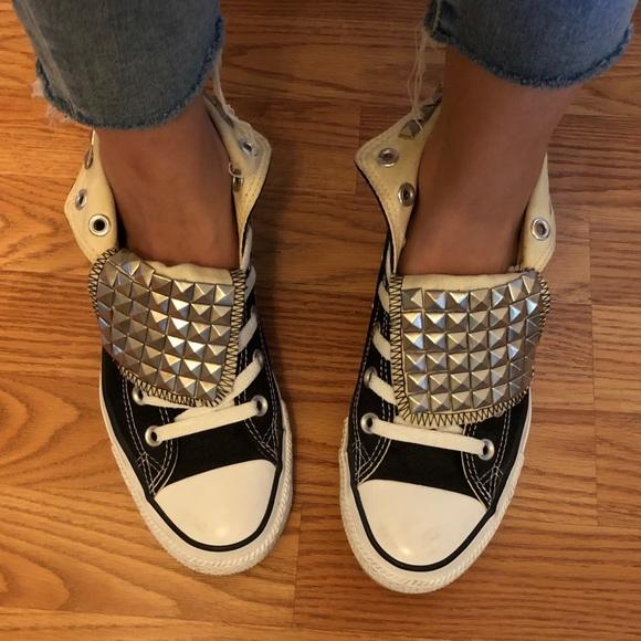 483c11b555b1 Converse Shoes -  BLACK FRIDAY SALE  Custom Made Studded Converse